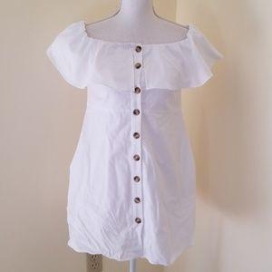 NWT! ZARA White Button Down Size M Dress